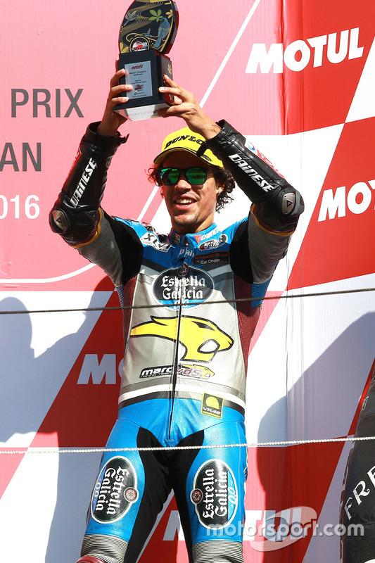 Podium: troisième place Franco Morbidelli, Marc VDS
