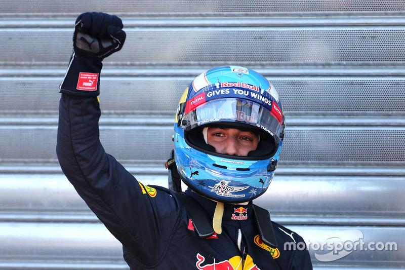 Polesitter Daniel Ricciardo, Red Bull Racing
