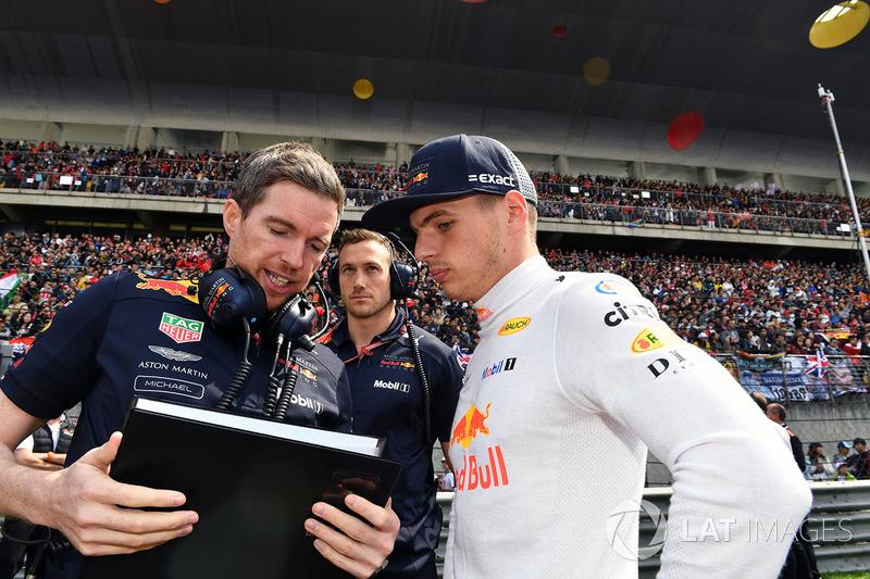 Max Verstappen, Red Bull Racing sur la grille