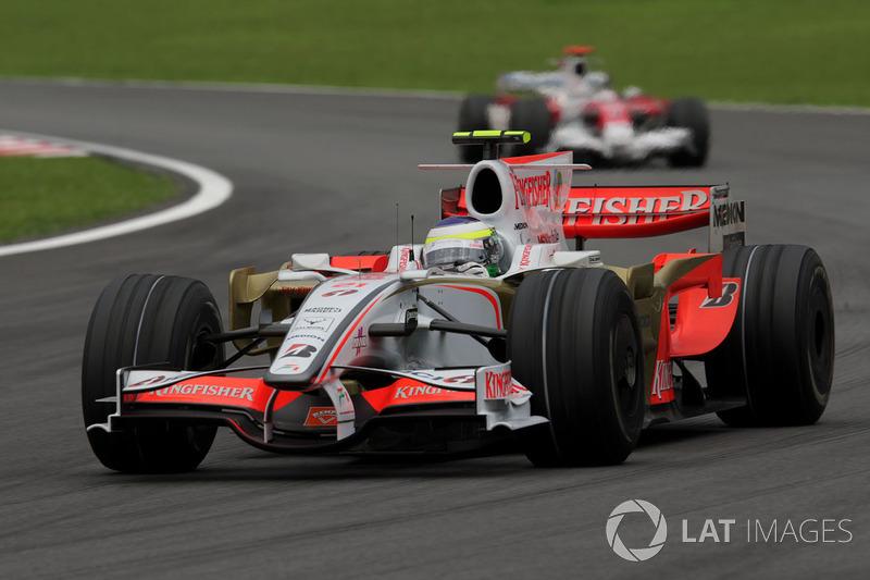 2008: Force India VJM01 (одно десятое место, 10-е место в КК)