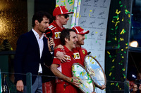 Sebastian Vettel, Ferrari and Kimi Raikkonen, Ferrari, Mark Webber