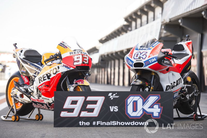 Las motos de Marc Márquez, Repsol Honda Team, Andrea Dovizioso, Ducati Team