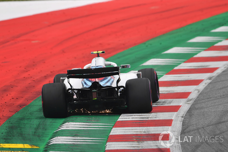 Sergey Sirotkin, Williams FW41, solleva scintille