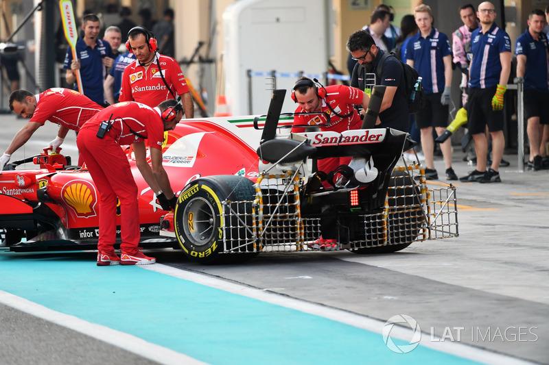Kimi Raikkonen, Ferrari SF70H, aero sensörleri