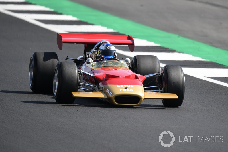 Lotus 49B en el desfile del 70º aniversario de Silverstone