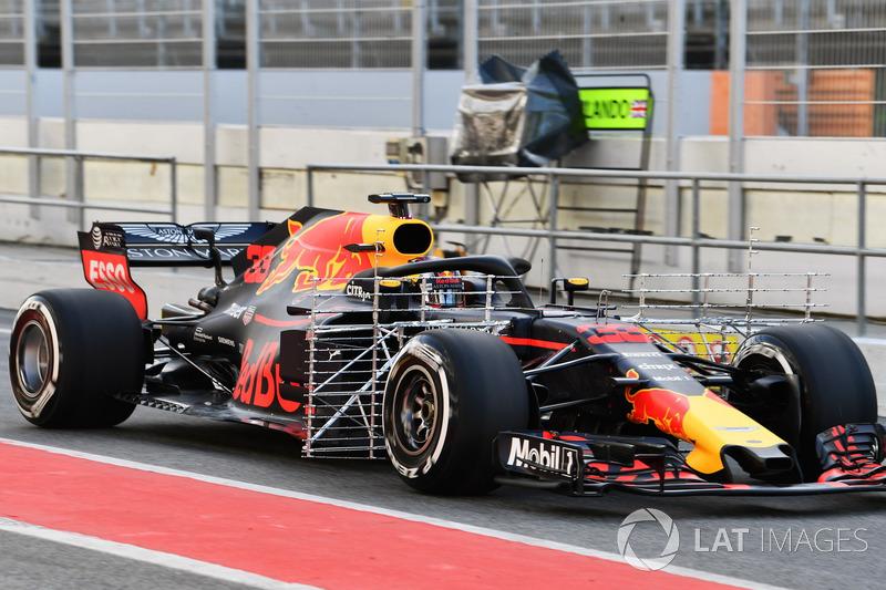 Max Verstappen, Red Bull Racing RB14 aero sensörü