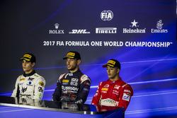 1. Luca Ghiotto, RUSSIAN TIME; 2. Sergio Sette Camara, MP Motorsport; 3. Antonio Fuoco, PREMA Powerteam