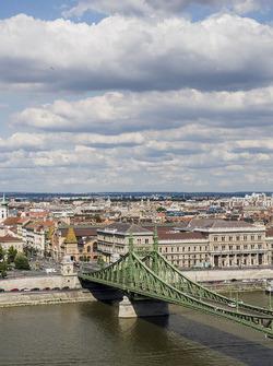 Вид на мост Свободы и реку Дунай