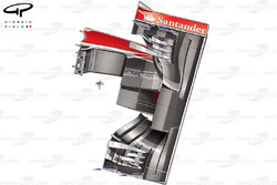 Ferrari F138 front wing and nose, bottom view captioned