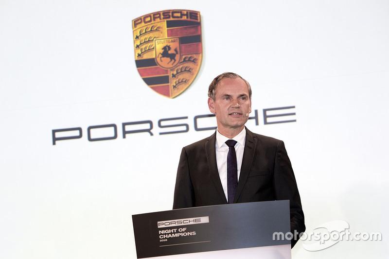 Michael Steiner, miembro de la ejecutiva de tablero de investigación y desarrollo, Porsche AG