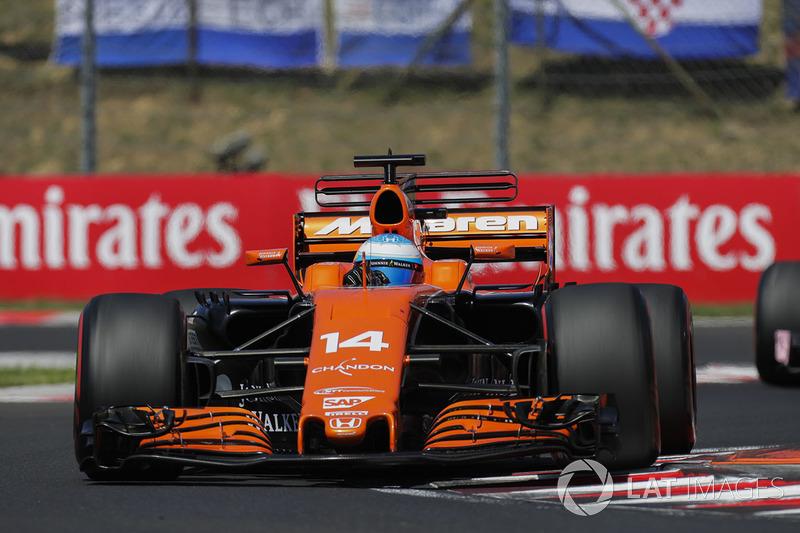 15. Fernando Alonso, McLaren MCL32
