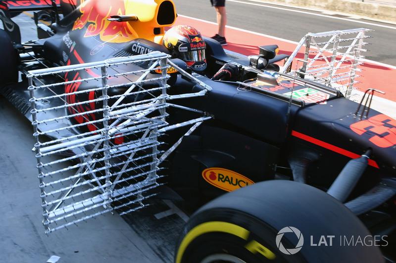 Max Verstappen, Red Bull Racing RB13, Aerodynamik-Sensoren