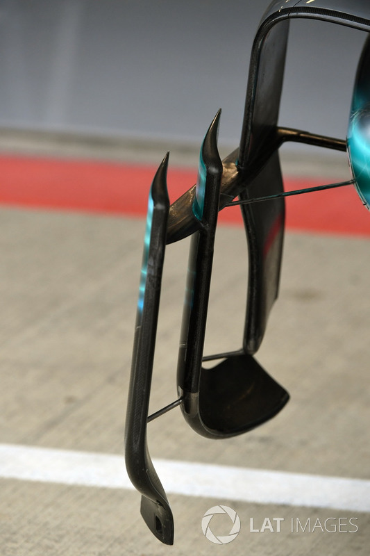 Аеродинамічні елементи Mercedes-Benz F1 W08