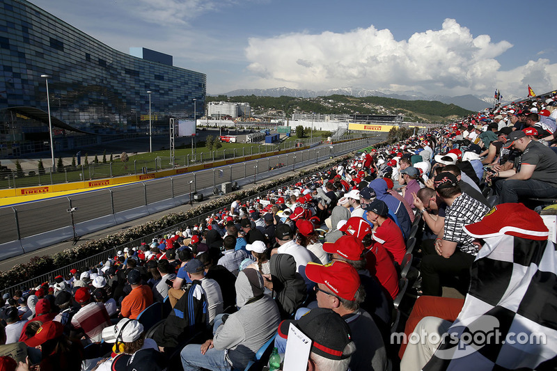 Fans and atmosphere in the grandstand