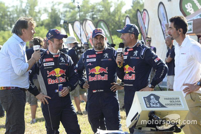 Stéphane Peterhansel, Sébastien Loeb, Daniel Elena, Peugeot Sport