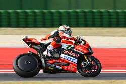 Chaz Davies, Ducati Team with wheel cover