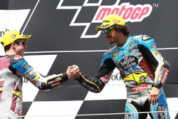 Podium: Alex Marquez, Marc VDS, Mortbidelli and Franco Morbidelli, Marc VDS