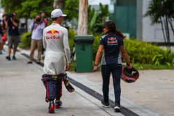 Pierre Gasly, Scuderia Toro Rosso and Fabiana Valenti, Scuderia Toro Rosso Head of Communications