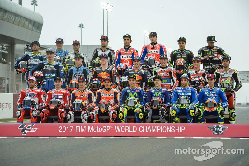 Gruppenfoto: MotoGP-Fahrer 2017
