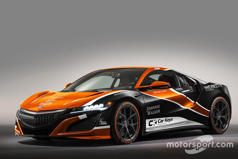 Honda NSX in McLaren livery
