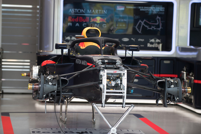 Red Bull Racing RB14 in the garage