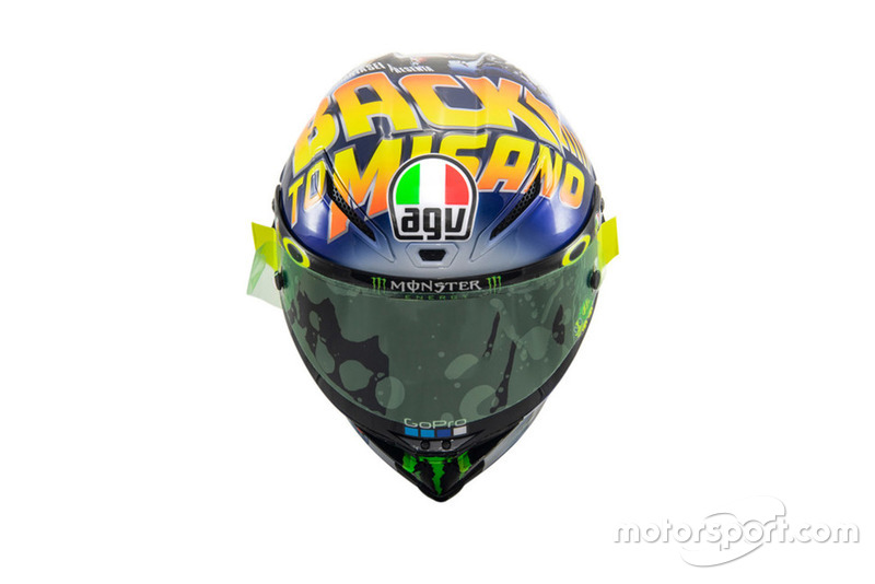 "Le casque spécial ""Back to Misano"" de Valentino Rossi, Yamaha Factory Racing"