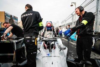 Sébastien Buemi, Nissan e.Dams, Nissan IMO1 arrivain griglia di partenza