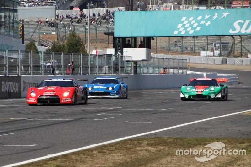 Satoshi Motoyama, Nissan GT-R, Juichi Wakisaka, Toyota Supra, Ryo Michigami, Honda NSX-GT