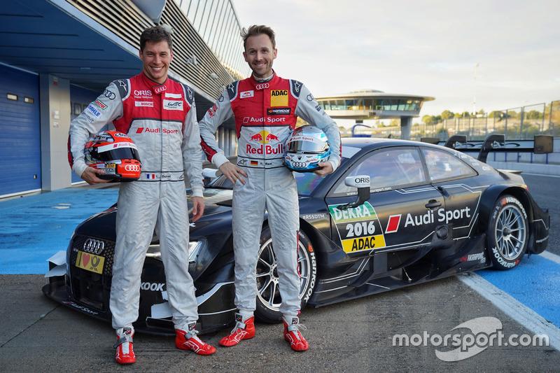 Loic Duval, René Rast, Audi RS 5 DTM Test Car