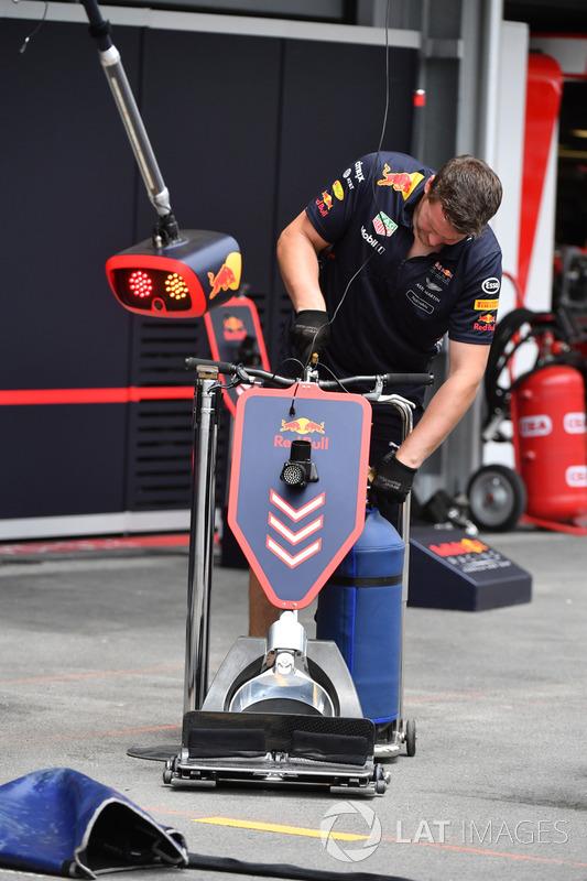 Mechaniker mit Wagenheber