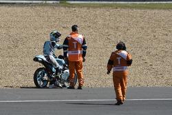 Track clearance after mass crash, Livio Loi, Leopard Racing