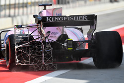 Alfonso Celis Jr., Sahara Force India F1 VJM10, mit Messgeräten