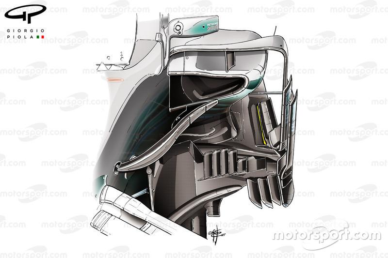 """تفاصيل جانب سيارة مرسيدس """"دبليو08"""""""