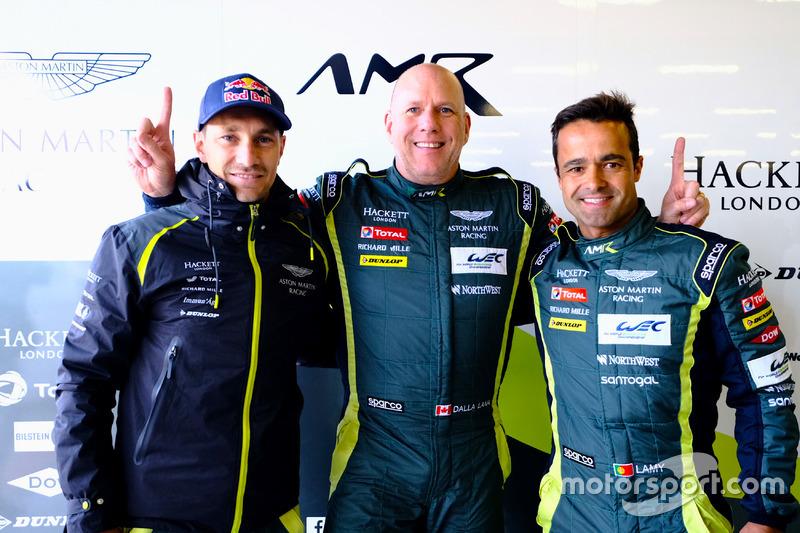 Polesitter GTE-Am: #98 Aston Martin Racing Aston Martin Vantage: Paul Dalla Lana, Pedro Lamy, Mathias Lauda