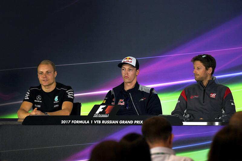 Валттери Боттас, Mercedes AMG F1, Даниил Квят, Scuderia Toro Rosso, Ромен Грожан, Haas F1