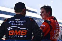 Kaz Grala, GMS Racing Chevrolet, Christopher Bell, Kyle Busch Motorsports Toyota
