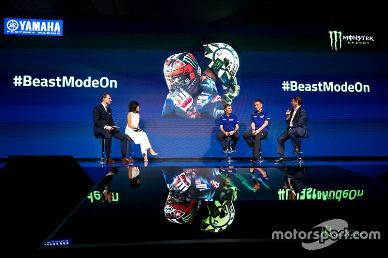 Lin Jarvis, Yamaha Factory Racing Managing Director, Kouichi Tsuji, President of Yamaha Motor Racing, Mitch Covington, Monster Energy Vice President Sports Marketing