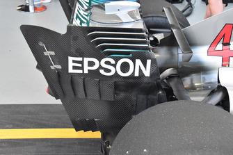 Mercedes AMG F1 W09, dettaglio della paratia laterale dell'ala posteriore