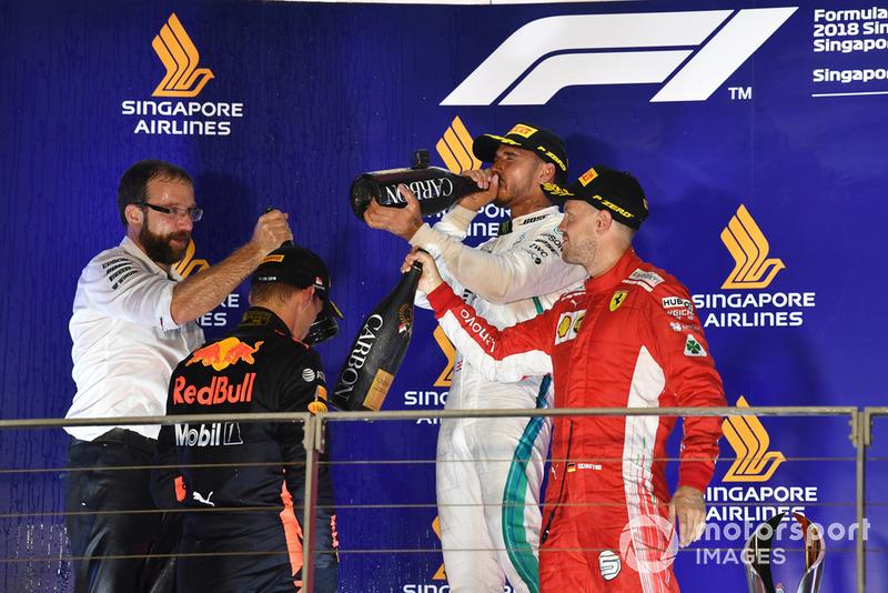 Макс Ферстаппен, Red Bull Racing, Льюіс Хемілтон, Mercedes AMG F1 та Себастьян Феттель Ferrari