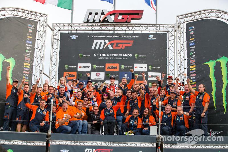 Jeffrey Herlings y el equipo Red Bull KTM Factory Racing