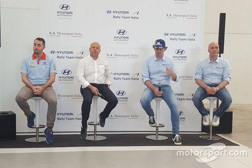 Presentazione di Hyundai Rally Team Italia