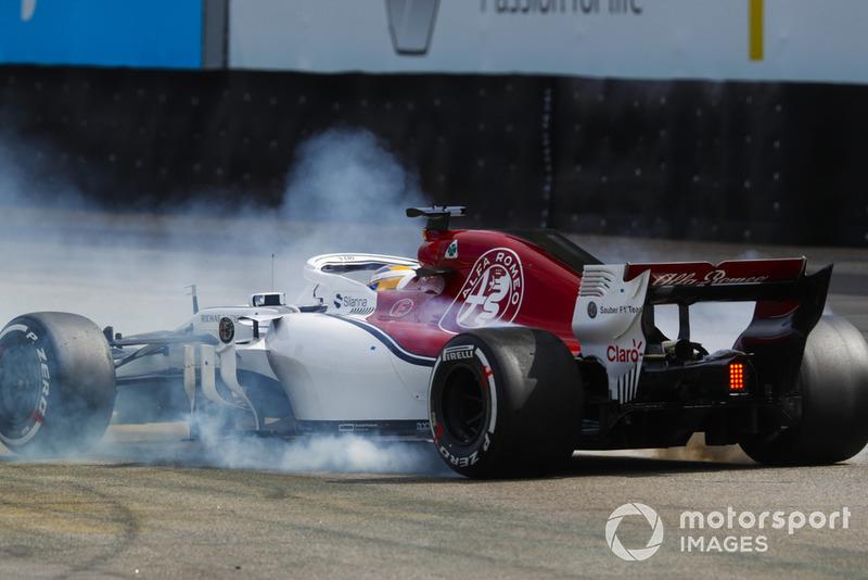 Marcus Ericsson, Sauber C37, en tête-à-queue