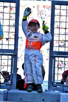 Un jeune fan de McLaren