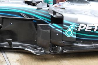 Боковой дефлектор Mercedes AMG F1 W09
