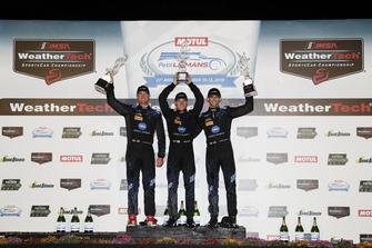 #10 Wayne Taylor Racing Cadillac DPi, P: Renger van der Zande, Jordan Taylor, Ryan Hunter-Reay, podium