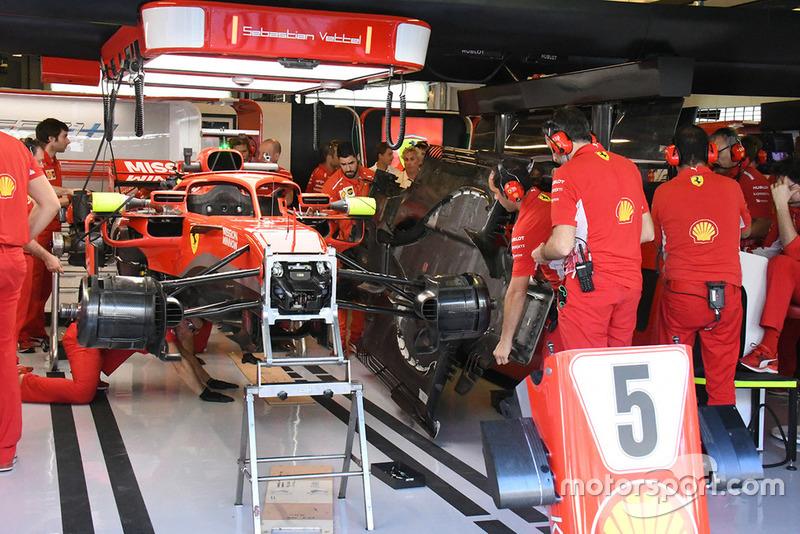 Equipo de Ferrari y detalle técnico