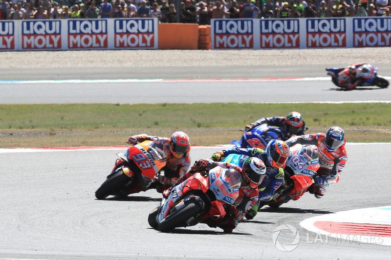 Renn-Action: Jorge Lorenzo, Ducati Team, führt