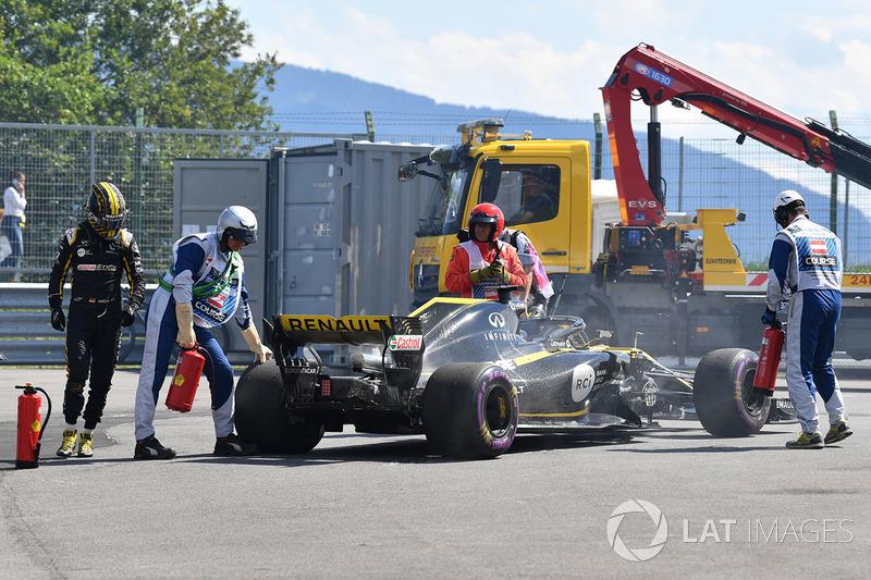 Nico Hulkenberg, Renault Sport F1 Team R.S. 18, si ritira dalla gara