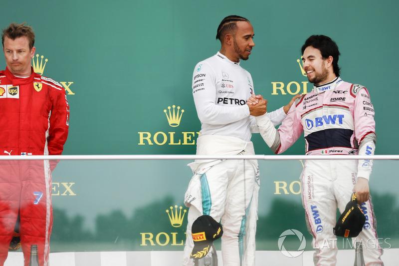 Perez'in yanında hep Hamilton var