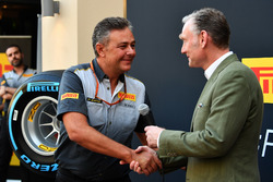 Mario Isola, Pirelli Sporting Director and Sean Bratches, Formula One Managing Director, Commercial Operations